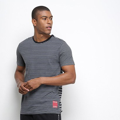 Camiseta Calvin Klein Listrada Masculina