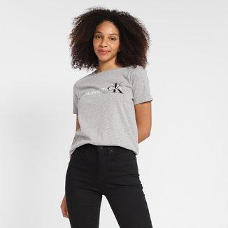 Camiseta Calvin Klein Logo CK Feminina