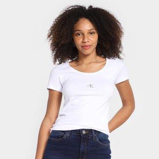 Camiseta Calvin Klein Logo Feminina