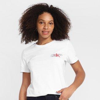 Camiseta Calvin Klein Logo Relevo Feminina