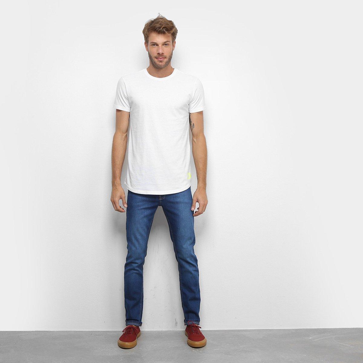 Camiseta Calvin Klein Long Masculina - Branco