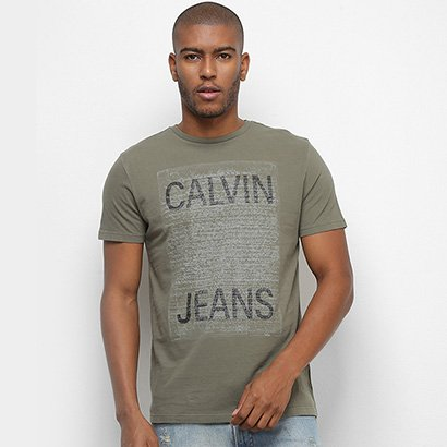 Camiseta Calvin Klein Manuscrito Masculina