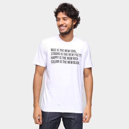 Camiseta Calvin Klein New Cool Masculina - Branco