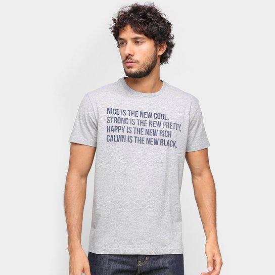 Camiseta Calvin Klein New Cool Masculina - Mescla