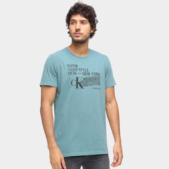 Camiseta Calvin Klein New York Masculina - Verde
