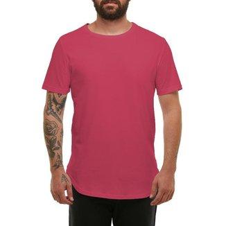 Camiseta Camisa Blusa Longline Oversized Mc-VERMELHO-EXG