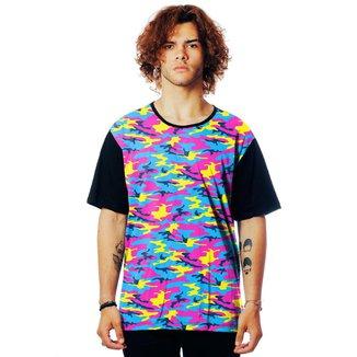 Camiseta Camuflada ElephunK Estampada Camuflagem Fashion