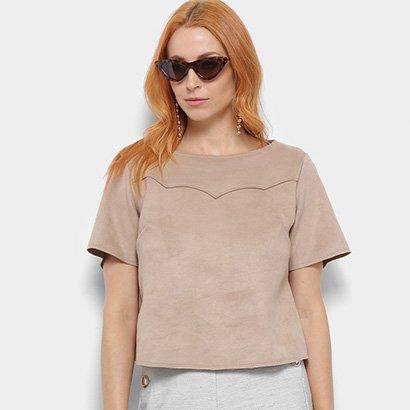 Camiseta Camurça Dimy Feminina-Feminino