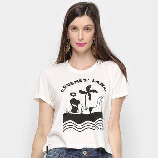 Camiseta Cantão Baby Look Crushes Land Feminina