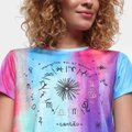 Camiseta Cantão Babylook Astrologia Manga Curta Feminina
