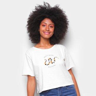 Camiseta Cantão Babylook Cropped Cobra Feminina