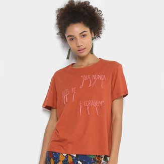 Camiseta Cantão Bordada Feminina