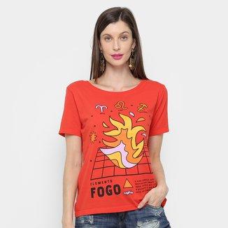 Camiseta Cantão Cassic Fogo Feminina