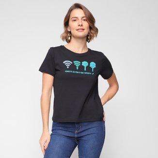 Camiseta Cantão Conecte-Se Baby Look Feminina