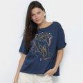 Camiseta Cantão Estampada Feminina