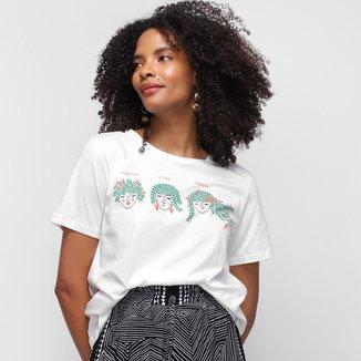 Camiseta Cantão Floresça Feminina