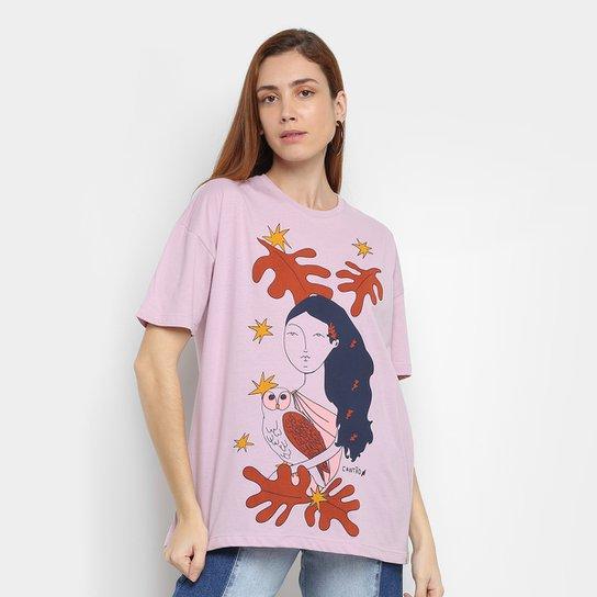 Camiseta Cantão Garota Planta Feminina - Lilás