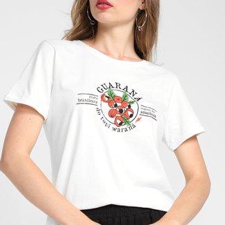 Camiseta Cantão Guaraná Baby Look Feminina