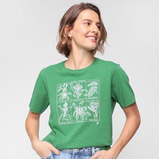 Camiseta Cantão Jardim Tropical Feminina