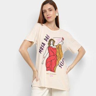 Camiseta Cantão Musas Contemporâneas Manga Curta Feminina