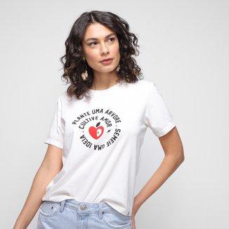 Camiseta Cantão Plante Uma Árvore Feminina