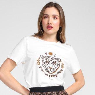 Camiseta Cantão Slim Força Feminina