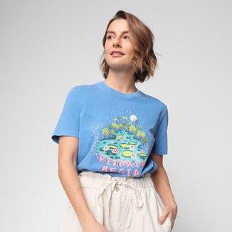 Camiseta Cantão Vitória Régia Slim Feminina