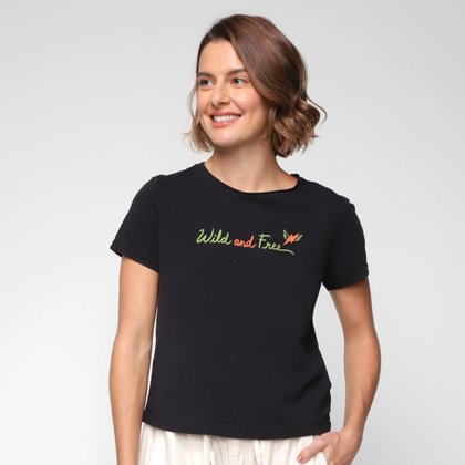 Camiseta Cantão Wild and Free Feminina