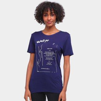 Camiseta Carmim Elementos Da Natureza Feminina