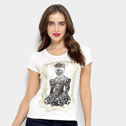 Camiseta Carmim Queen Cat Feminina