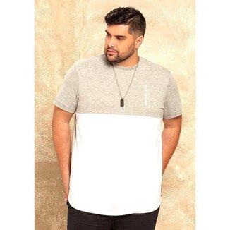 Camiseta Casual Masculina Plus Size Dia a Dia Conforto