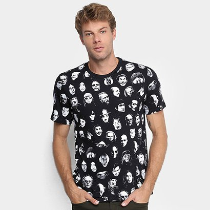 Camiseta Cavalera Faces Masculina