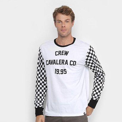 Camiseta Cavalera Manga Longa Race Quadriculada Masculina