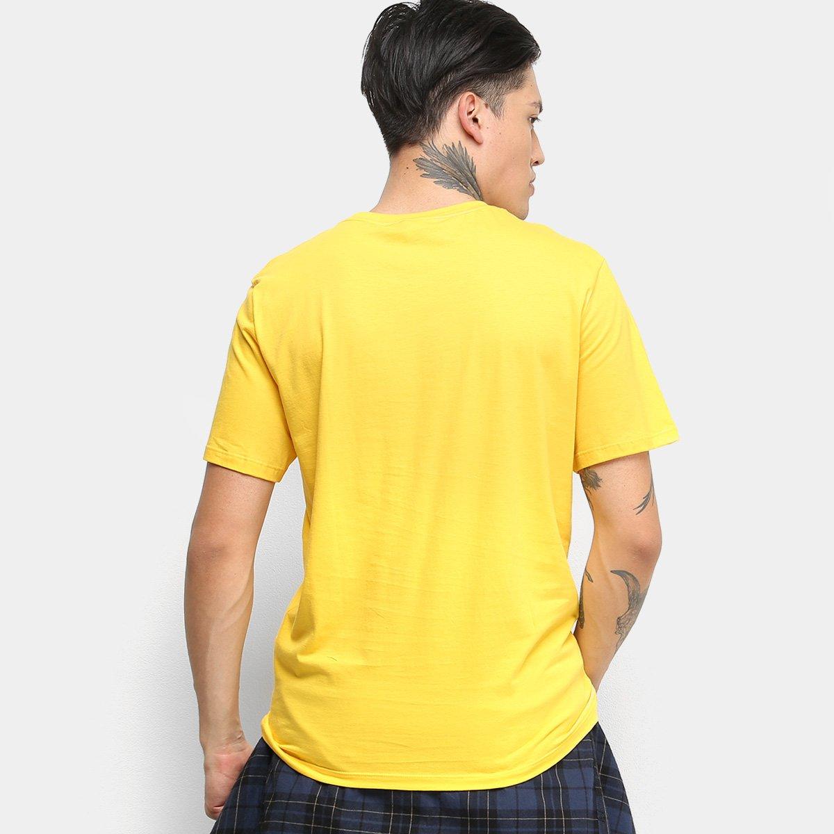 Camiseta Cavalera One Love Masculina - Amarelo