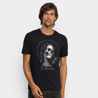 Camiseta Cavalera Skull Statue Masculina