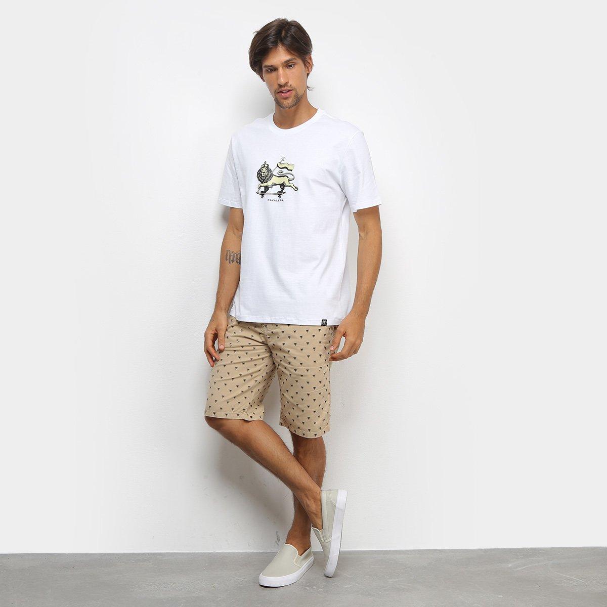 Camiseta Cavalera T Shirt Leão De Judah Masculina - Branco