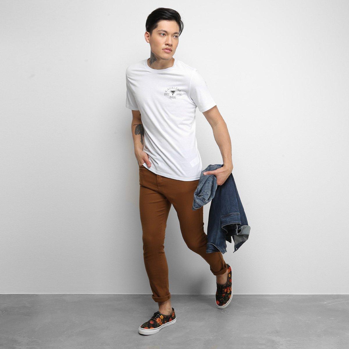 Camiseta Cavalera T Shirt Yin Yang Masculina - Branco