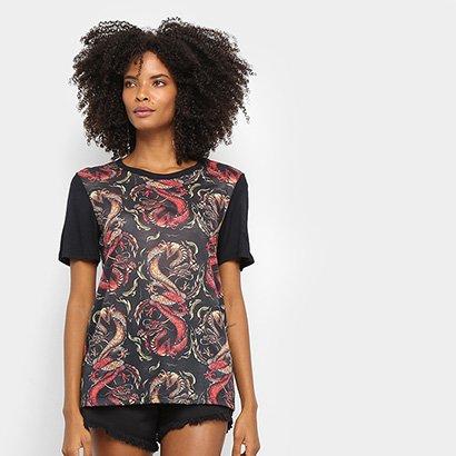 Camiseta Cavalera Tee Classic Dragões Feminina