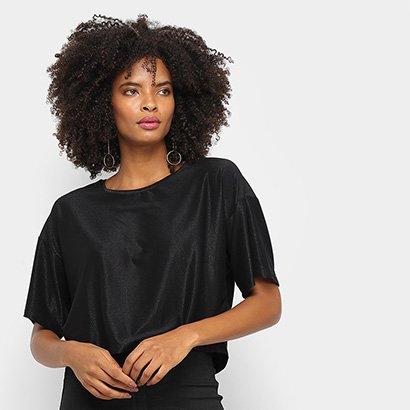 Camiseta Cavalera Tee Cropped Ampla Stardust Feminina