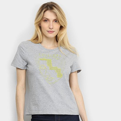 Camiseta Cavalera Tracing Neon Feminina