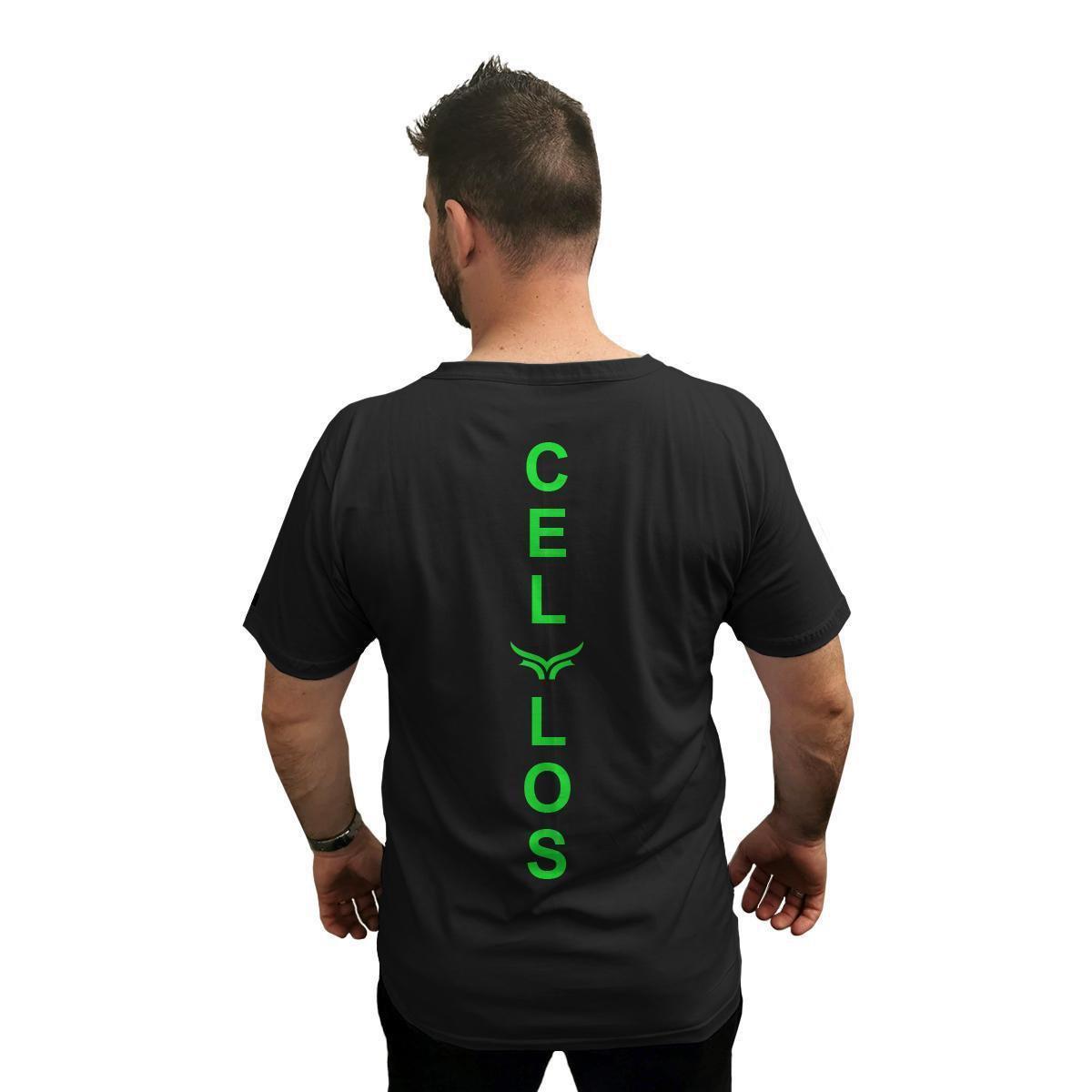 Camiseta Cellos Vertical Signature Premium Masculina - Preto