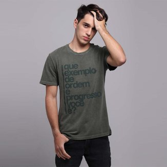 Camiseta Civisporã Que Exemplo de Ordem e Progresso Você é? Básica Unissex