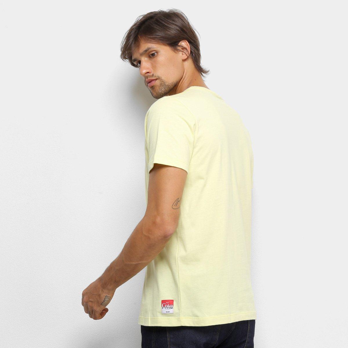 Camiseta Coca-Cola Básica Masculina - Amarelo