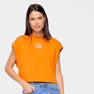 Camiseta Colcci A Vida É Simples Feminina