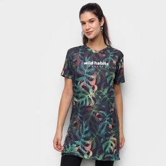 Camiseta Colcci Alongada Wild Habits Feminina