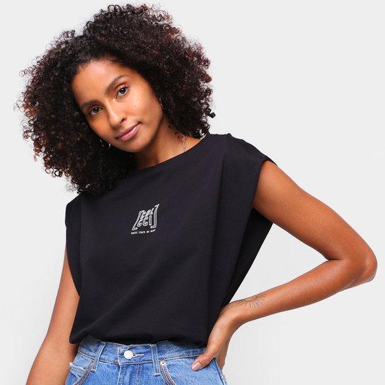Camiseta Colcci Basic State Of Mind Feminina - Preto