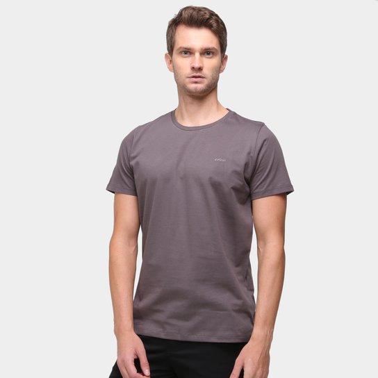 Camiseta Colcci Básica Lisa Masculina - Cinza