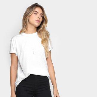 Camiseta Colcci Básica Logo Fit Feminina