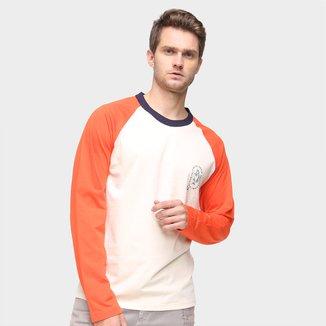 Camiseta Colcci Bicolor Manga Longa Masculina