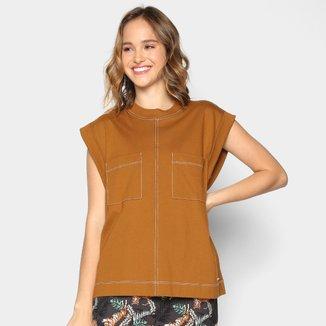 Camiseta Colcci Bolsos Manga Curta Feminina